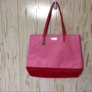 Juicy Couture Just Say Oui Pink and Red Tote